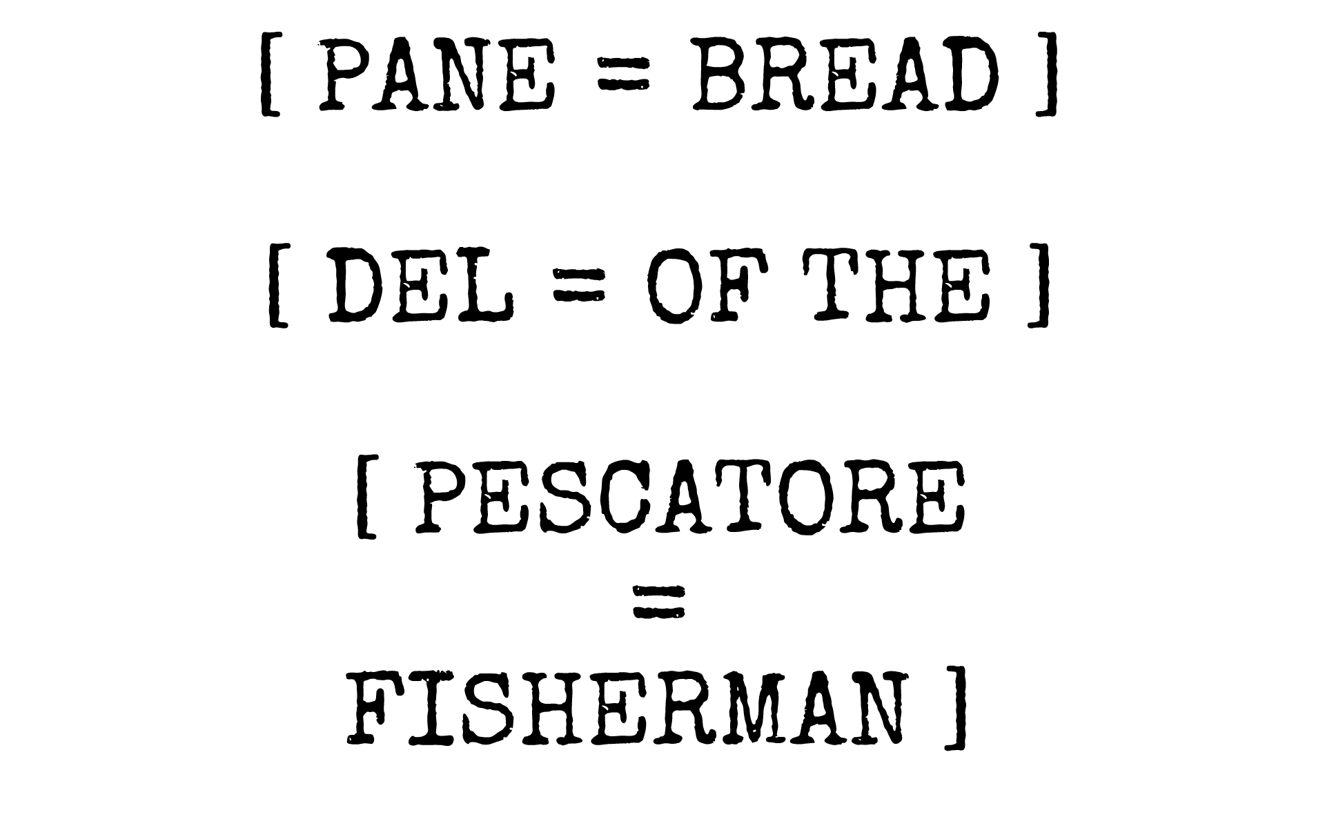 BREAD OF THE FISHERMAN FOODS OF FLORENCE