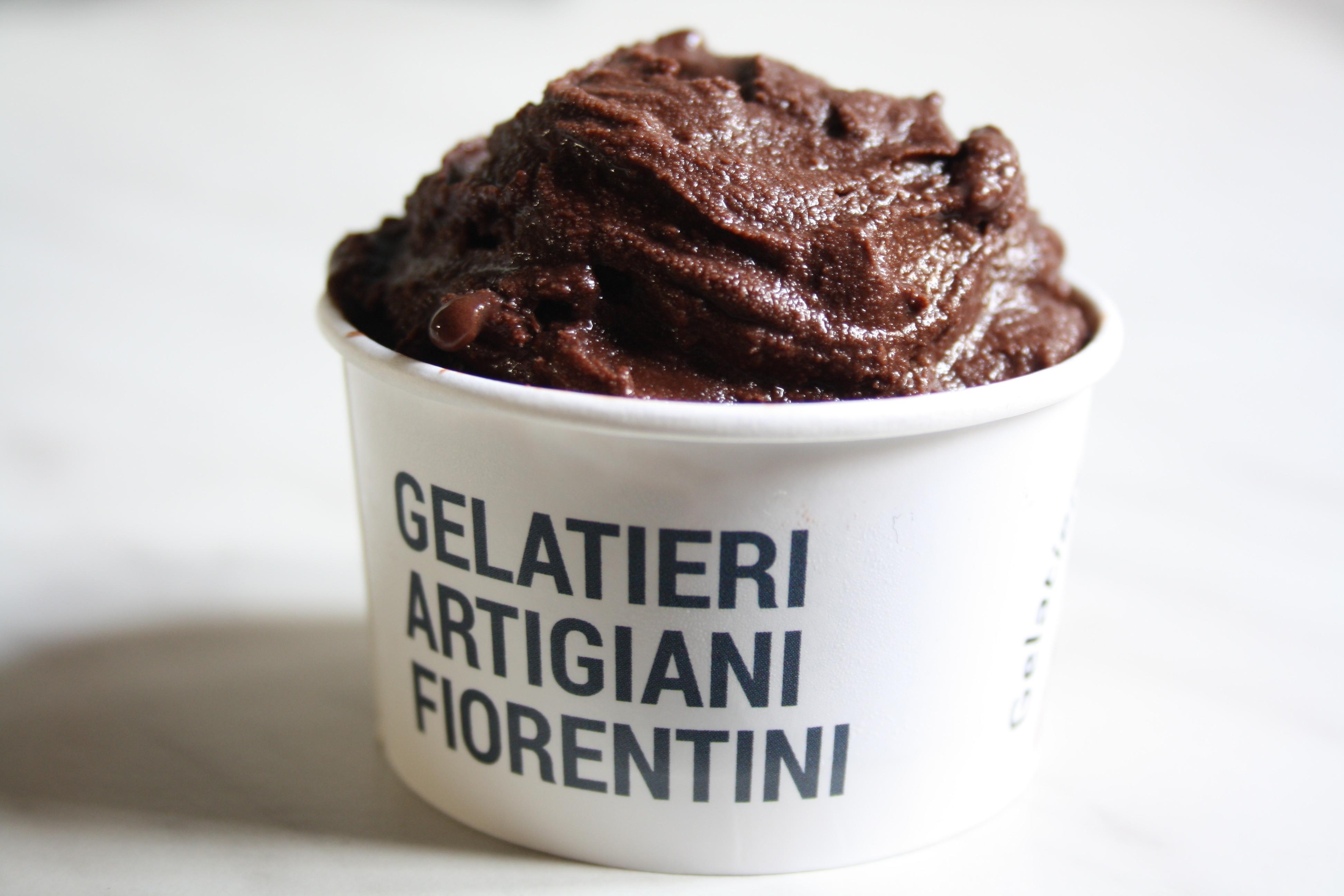dark chocolate ice-cream Amedei Tuscany Florence 2