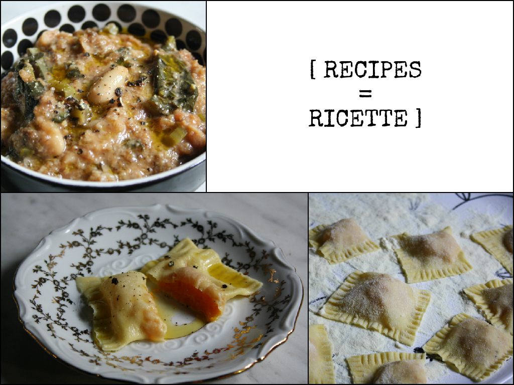 RICETTE RECIPES FOODS OF FLORENCE