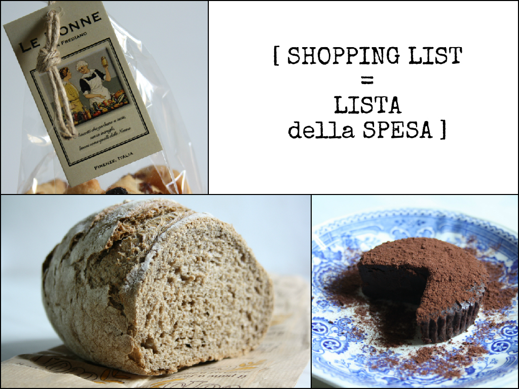 shopping list foods of florence