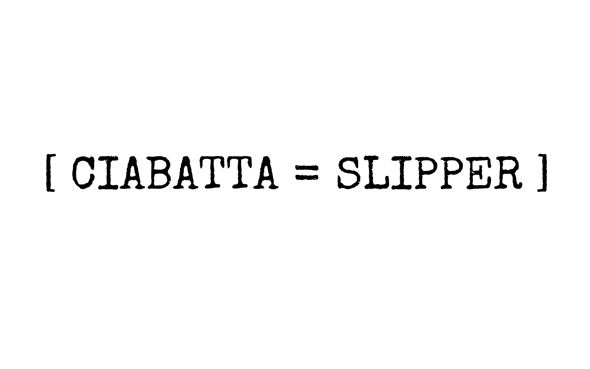 ciabatta slipper