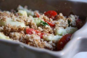 Classic panzanella bread salad