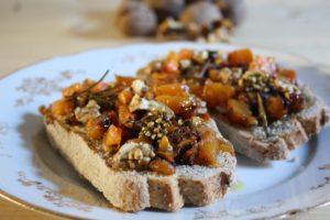Pumpkin bruschetta with Tiuscan herbs