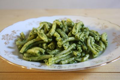Pasta with Tuscan kale pesto