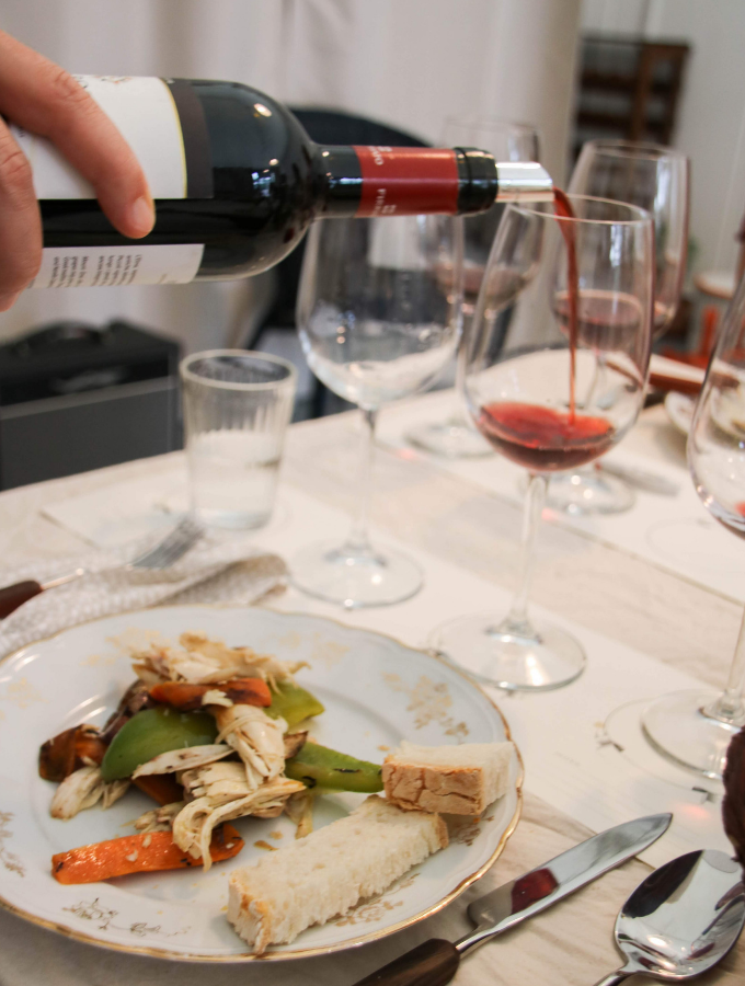 lunch with wine tasting in florence